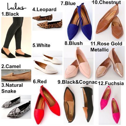 Leopard Patterns Square Toe Casual Style Flats