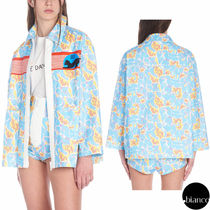 MiuMiu Casual Style Denim Other Animal Patterns Medium Jackets