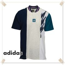 adidas Pullovers Unisex Henry Neck Cotton Short Sleeves