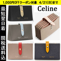CELINE Bi-color Leather Card Holders