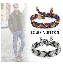 Louis Vuitton Stripes Leather Bracelets