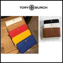 Tory Burch Saffiano Plain Long Wallets