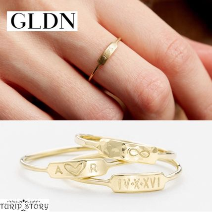 Casual Style Handmade Silver 14K Gold Rings