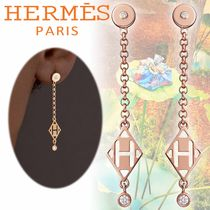 HERMES Casual Style Initial Street Style With Jewels