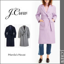 J Crew Casual Style Wool Plain Long Wrap Coats