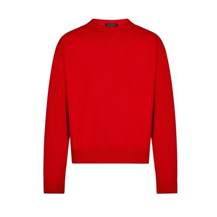 Louis Vuitton Knits & Sweaters Crew Neck Pullovers Cashmere Blended Fabrics Street Style 2