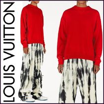Louis Vuitton Crew Neck Pullovers Cashmere Blended Fabrics Street Style