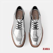 ZARA Platform Casual Style Loafer Pumps & Mules