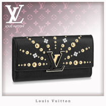 Louis Vuitton CAPUCINES Studded Leather Long Wallets