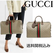 GUCCI Ophidia Stripes Canvas Boston & Duffles