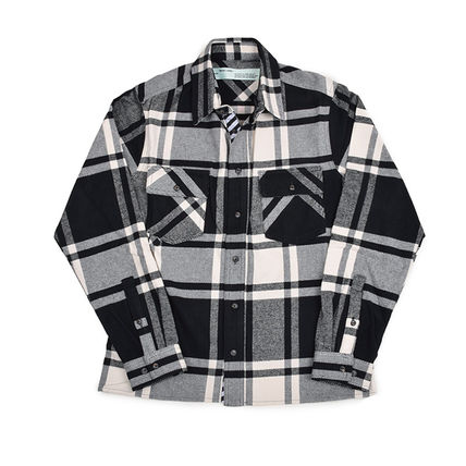 Off-White Shirts Street Style Long Sleeves Shirts 2