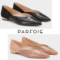 PARFOIS Platform Faux Fur Plain Office Style Slip-On Shoes