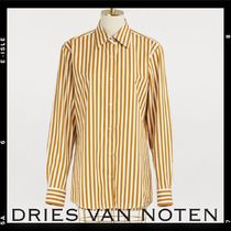 Dries Van Noten Stripes Casual Style Long Sleeves Cotton Medium