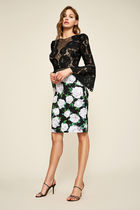 TADASHI SHOJI Flower Patterns Party Style Dresses