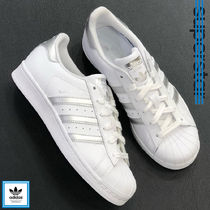adidas SUPERSTAR Rubber Sole Casual Style Unisex Street Style Plain Leather