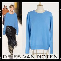 Dries Van Noten Crew Neck Casual Style Cashmere Long Sleeves Plain Medium