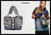 DIESEL Casual Style Street Style Plain Leather Handbags