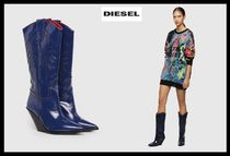 DIESEL Casual Style Street Style Plain Leather Boots Boots