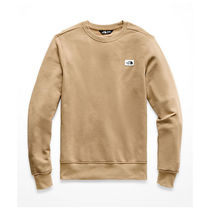 THE NORTH FACE Crew Neck Pullovers Street Style Long Sleeves Plain Cotton