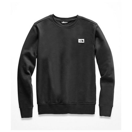 THE NORTH FACE Long Sleeve Crew Neck Pullovers Street Style Long Sleeves Plain Cotton 2