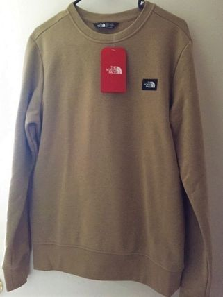 THE NORTH FACE Long Sleeve Crew Neck Pullovers Street Style Long Sleeves Plain Cotton