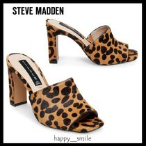 1c777fe36ee6 Steve Madden Open Toe Leather Block Heels Elegant Style Sandals