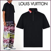 Louis Vuitton Button-down Unisex Blended Fabrics Street Style Bi-color