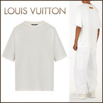 Louis Vuitton Crew Neck Pullovers Unisex Street Style Plain Cotton