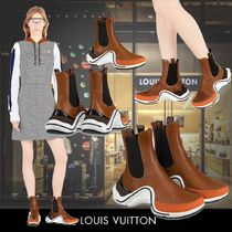 Louis Vuitton Round Toe Casual Style Plain Ankle & Booties Boots