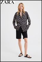 ZARA Long Sleeves Other Animal Patterns Shirts & Blouses
