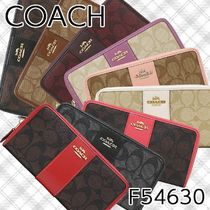 Coach SIGNATURE PVC Clothing Long Wallets