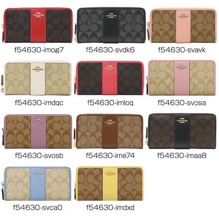 online retailer b00a9 176cc Coach SIGNATURE 2019 SS PVC Clothing Long Wallets (F54630)