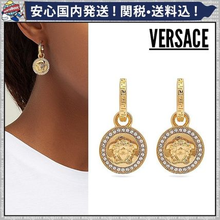 Casual Style Coin Earrings & Piercings