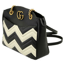GUCCI GG Marmont Leather Elegant Style Shoulder Bags