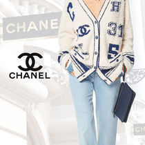 CHANEL Blended Fabrics Street Style Plain Leather