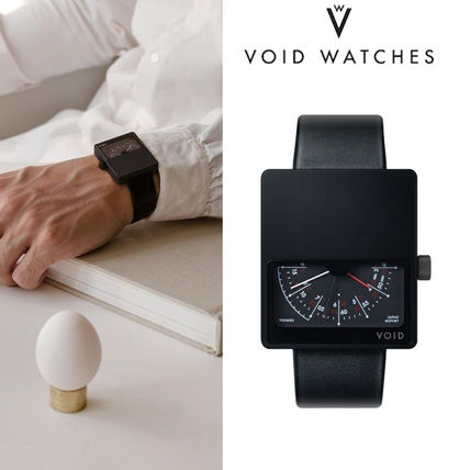 Casual Style Leather Digital Watches