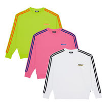 NERDY Crew Neck Pullovers Unisex Street Style Long Sleeves Cotton