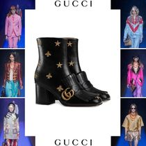 GUCCI Star Casual Style Blended Fabrics Leather