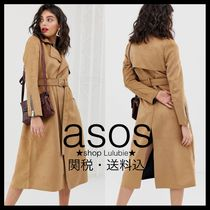 ASOS Casual Style Suede Plain Medium Trench Coats