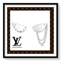 Louis Vuitton Chain Silver Elegant Style Earrings & Piercings