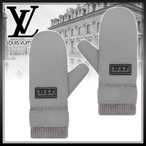 Louis Vuitton Wool Street Style Plain Gloves Gloves