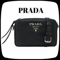 PRADA Casual Style Leather Shoulder Bags