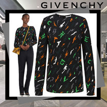 GIVENCHY Camouflage Street Style Long Sleeves Shirts & Blouses