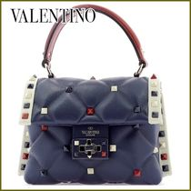 VALENTINO Casual Style Studded 2WAY With Jewels Bold Handbags