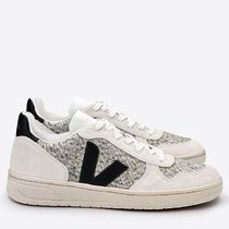 VEJA V10 Casual Style Unisex Plain Leather Low-Top Sneakers