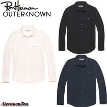 Ron Herman Button-down Long Sleeves Plain Cotton Handmade Shirts