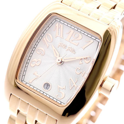 Square Quartz Watches Stainless Office Style Analog Watches