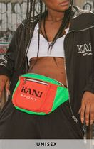 KARL KANI Unisex Canvas Street Style Collaboration Hip Packs