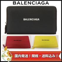 BALENCIAGA EVERYDAY TOTE Unisex Calfskin Long Wallets