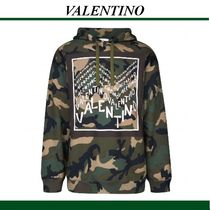 VALENTINO Camouflage Long Sleeves Hoodies